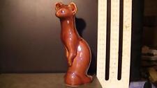 Antique USSR russian ceramic majolica figurine Marten ermine sable Polar fox   u