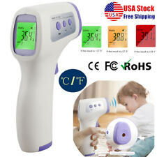 Ir Infrared Thermometer Digital Non-Contact Forehead Fever Baby Adult Temp Gun