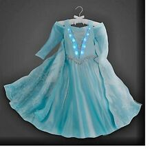 DELUXE $199 NEW DISNEY COSTUME LIGHTUP ELSA FROZEN PRINCESS DRESS Size 10