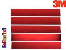 665,33€/qm 5 Stk 10 cm x 15 mm ReflexfolieA 3M Scotchlite rot Reflektorband
