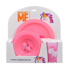 UNICORN DESPICABLE 3PC KIDS MELAMINE DINNER SET TUMBLER BOWL PLATE NEW XMAS GIFT