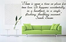 Vinyl Wall Decal Sticker Room Decor Saings Quotes Inspiring Sarah Dessen F2027