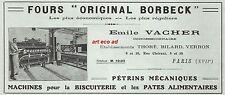 Publicité Fours Boulangerie Pétrins meunerie Boulanger vintage  ad  1922 - 9h
