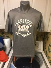 Charlevoix Michigan Athletic Department Short Sleeve Men's T Shirt Gray Poly M