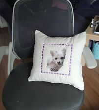 Beautiful  Photo Embroidered Cushion of your Pet Gift Christmas Birthday Present