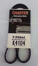 Serpentine Belt-Automotive V-Ribbed Belt (Standard) Gates Charter K4104