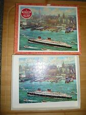 Vintage Victory Hand Cut Wooden Jigsaw Puzzle New York Harbour 125piece No.7004