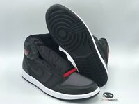 "Nike Air Jordan 1 ""Black Satin Gym Red"" Size 10 555088-060 FREE SHIPPING"