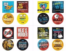 PETA Stickers x16 ~ Animal Rights Vegetarian Vegan Anti-Cruelty Activism Sticker