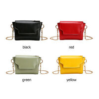 Women Candy Color Shoulder Messenger Bag Small Ladies Flap PU Crossbody Bags