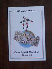 Vecchia foto cartolina d epoca dei Campionati Mondiali di Calcio 90 stemma da