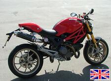 Ducati Monster 696 09 + Sp de ingeniería de fibra de carbono Ronda Big Bore Xls Escapes