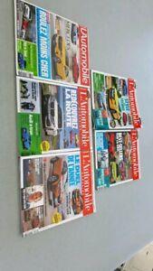 Lot  5 magazines L'automobile année 2019,