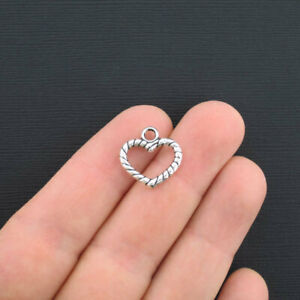 YD2413 Bulk 50 Pcs Fairy with Heart Charms Antique Silver Tone 24x15mm