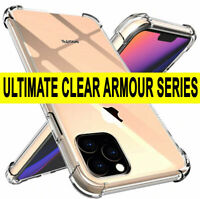 TOUGH CLEAR CASE For iPhone 11 Pro Max 8 7 XR XS Shockproof Silicone Gel Cover