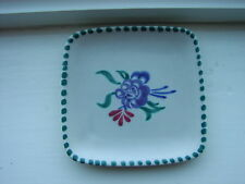 Vintage Poole Pottery Small Square Tray Pattern 364 Floral Centre 1950's