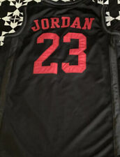 Michael Air Jordan Kids Boys Black #23 Basketball Jersey Shirt Youth Sz Lg 12/13