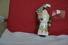 Patricia Breen 2018 (Amato Claus) Santa with Reindeer.Pine Green.New w/ Tags. Mi