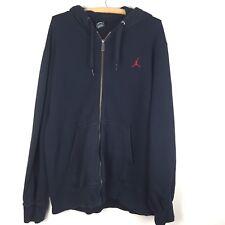AIR JORDAN mens hoodie Large jacket black sweatshirt full zipper o215