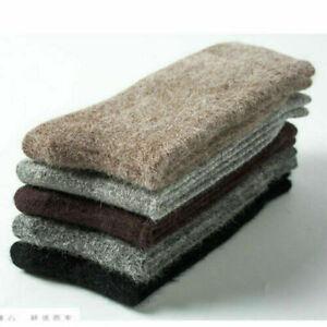 3 Pairs New Men Angora 100% Cashmere Wool Sock Comfortable Warm Pure Sock Winter