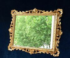 Wandspiegel Gold Antik Ornamente Barockspiegel 43x37 Badspiegel Flurspiegel C532