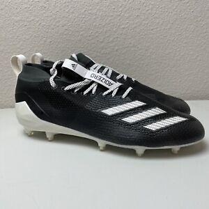 NEW ADIDAS ADIZERO 8.0 FOOTBALL CLEATS BLACK/WHITE F36586 MEN'S SIZE 11
