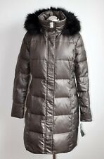 RALPH LAUREN QUILTED COAT - COAT Damen Daunen Mantel Größe S grau-braun