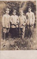 uralte Photo-AK, Vier Soldaten EK-I-Träger Eisernes Kreuz 1. Klasse