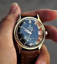 VINTAGE 1960s OMEGA CONSTELLATION PIE PAN DATE GOLDCAP/SS CAL. 561 REF 168 005