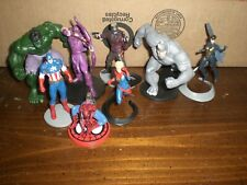 LOT of 8 Disney Marvel Superhero Villain PVC Figurine Toy Cake Topper