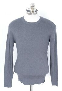 New Men's DKNY Gray Knit Crew Neck Top Thermal Shirt Pullover Sweater S Small