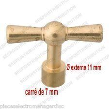 Clé de robinet exterieur carré de 7 mm pour tête robinet de jardin