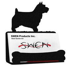 Swen Products Norwich Australian Terrier Dog Black Metal Business Card Holder