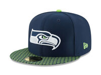New Era 59Fifty Hat Seattle Seahawks NFL 2017 On Field Sideline Fitted Cap