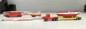Majorette-France Sealed Car & Glider #320 & Unboxed Truck, Hauler & Sailboat