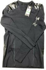 $85 Under Armour Perpetual Powerprint Mock Men's LARGE L/S Shirt Black 1321006