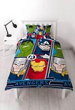 Marvel Avengers Tech Reversible Duvet Cover Bed Set Single