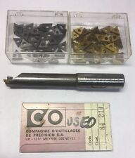 Circle Machine Co. Indexable Tool Holder QBB-500-20N & 101 Carbide Inserts