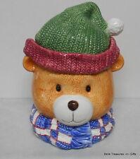 Teddy Bear Head Ceramic Cookie Jar