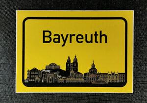 Aufkleber Ortschild Bayreuth mit Skyline
