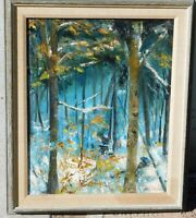Vintage signed oil/canvas 16 x 20 mystery artist