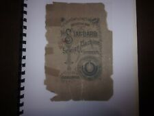 New listing Vintage Instruction Book of the Standard Serwing Machine Company