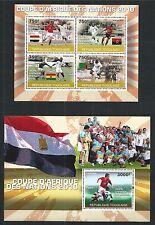 TOGOLAISE TOGO 2010 BLOCK MINI SHEET SET FIFA AFRICA CUP ** MNH