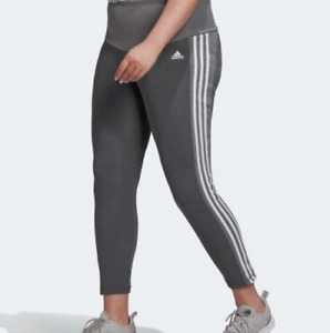 Adidas Training Tights Womens Plus Sizes Design 2 Move High Rise 3/4 Length Grey