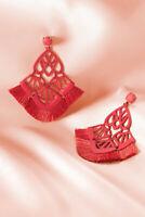 Stella & Dot Alexandria Chandeliers Red - StellaDot Earrings For Women