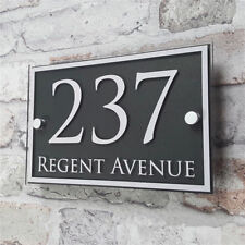 "Customized Acrylic Door House Number Sign Apartment Street Address 14""x5"""