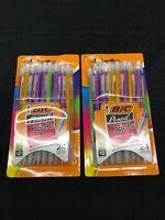 X 2 BIC Xtra Sparkle Mechanical Pencil 0.7mm Assorted Color Barrels 24 Pk X2=48