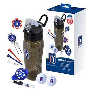 PGA Tour Match Play Drinks Bottle Golf Set - Golfer Gift For Dad Him