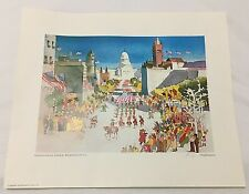 Hard to Find Dong Kingman PENNSYLVANIA AVENUE Hand Signed  Lithograph 1979