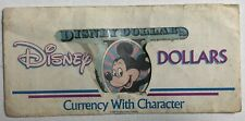 Vintage Lot Of 2 Two 1989 $1 One Disney Dollar Mickey Mouse Castle Back Bills